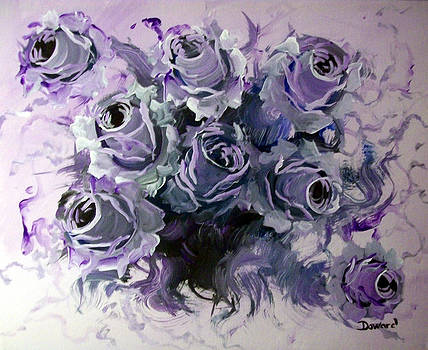 Abstract Roses Bouquet by Raymond Doward