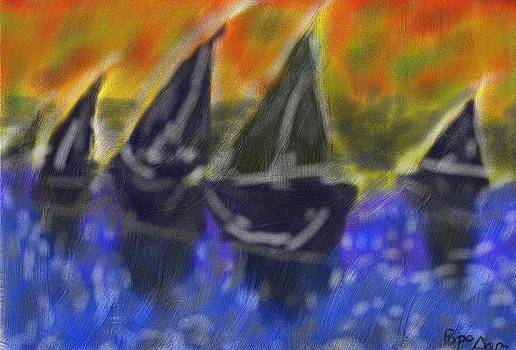 Abstract ship by Miu Dan Popa