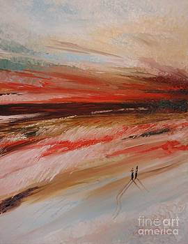 Abstract sunset II by Tatjana Popovska
