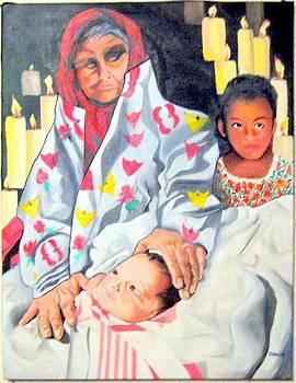 Abuela and ninas by John Sowley