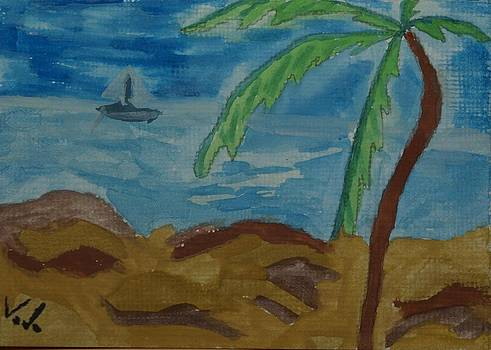 ACEO Sunny day in paradise by Voda Tenerife