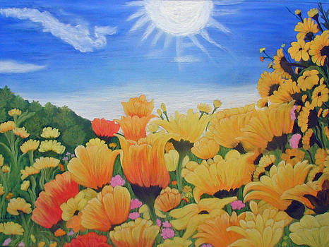 African Daises in the Sun by Norma Tolliver