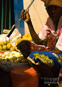 African Woman at Market 2 by Robert  Suggs