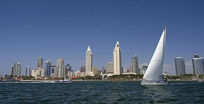 Afternoon on San Diego Bay by Orlando Guiang