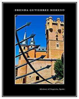 Alcazar of Segovia black border by Brenda Gutierrez Moreno