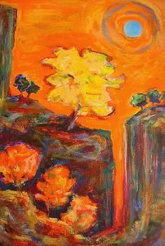 Amber Sky Blue Sun by Mary Schiros