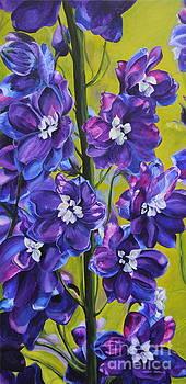 Amethyst Sapphires by Helen Shideler