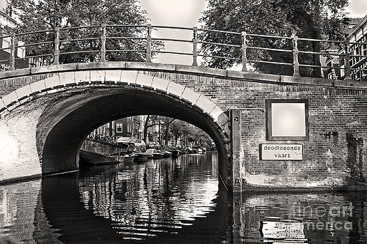 Gregory Dyer - Amsterdam Canal bridge in sepia