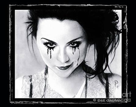 Amy Lee of Evanescence Reworked Black by Debbie Engel