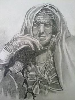 An old woman by Bharati Subramanian
