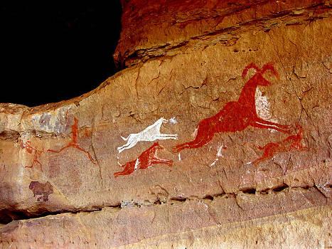 Ancient Sahara Hunting Scene, Libya by Joe & Clair Carnegie / Libyan Soup