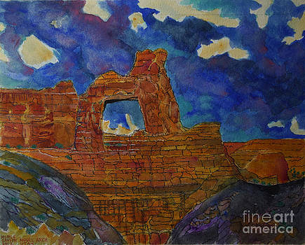 Angel Arch in Utah by Donald McGibbon