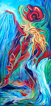 Aqua Rain by Jennifer Christenson