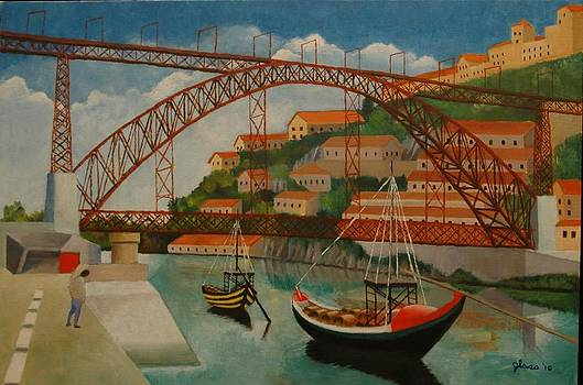 Arch Span Porto Portugal by Lester Glass