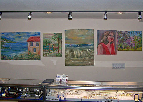 Patricia Taylor - Art Wall at the Jewelry Store