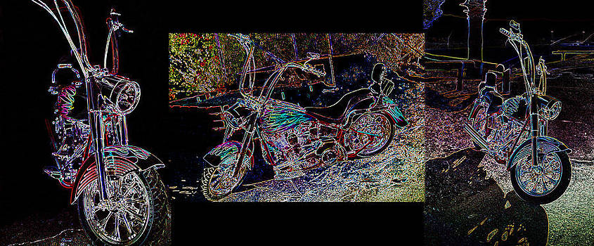 Artistic Harley Montage by Charles Benavidez