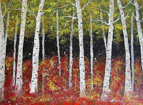 Aspen Trees by Trudy Kepke
