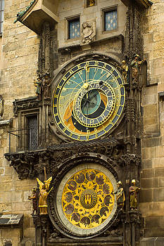 Astronomical Clock in Prague by Les Abeyta