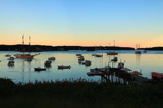 At Anchor at Swans Island by Doug Mills