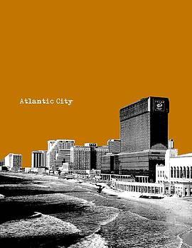 Atlantic City NJ New Jersey - Pop Art - Light brown by Bao Studio