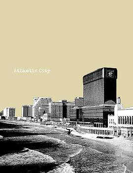 Atlantic City NJ New Jersey - Pop Art - Sand by Bao Studio