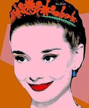 Audrey Hepburn Pop Art Tan Clay by Bao Studio