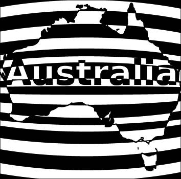 Australian Optical Illusion by Casino Artist