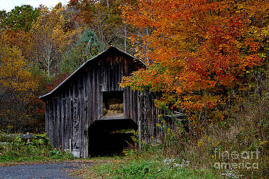 Autumn Barn by Tom Carriker