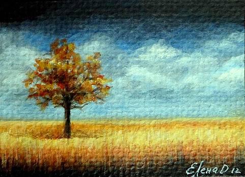 Autumn tree by Lena Day