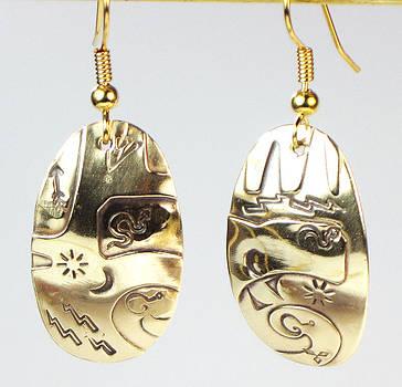 Aztec Tribal Earrings by Virginia Vivier