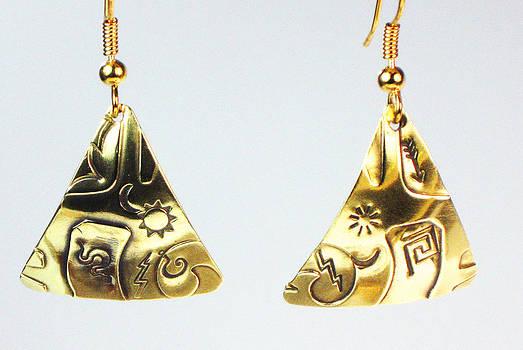 Aztec Trilogy Earrings by Virginia Vivier