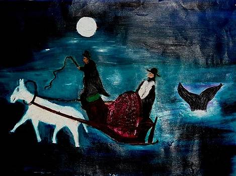 Baal Shem Tov in His Carriage by Eliezer Sobel