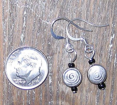 Bali Swirl Bead Earrings by Elizabeth Carrozza