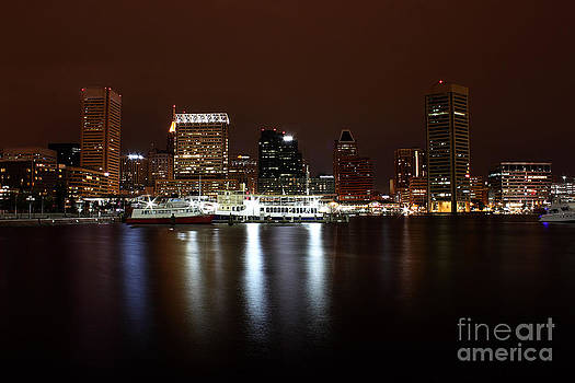 Baltimore Inner Harbor by Val Armstrong