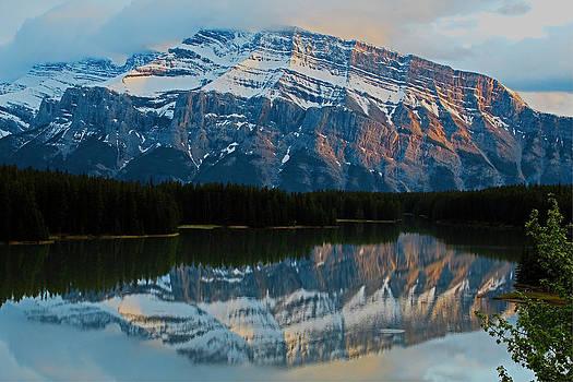 Banff Sunset  Reflection by Sam Amato