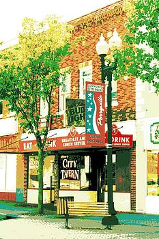 Barber Shop and City Tavern by Sheri Parris