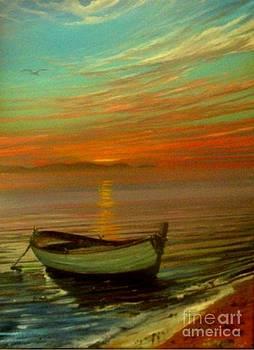 Barca Al Tramonto by Sandro  Mulinacci