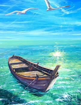 Barca In Mare N.6 by Sandro  Mulinacci