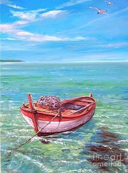 Barca In Mare by Sandro  Mulinacci