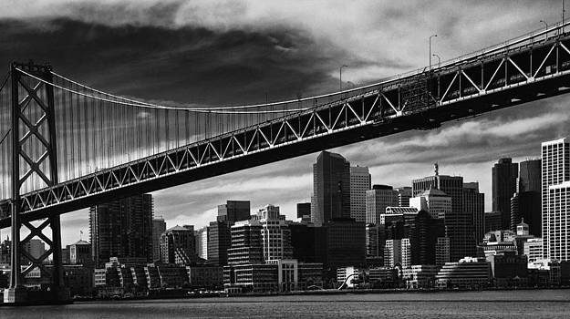Bay Bridge and Dowtown San Francisco by Laszlo Rekasi