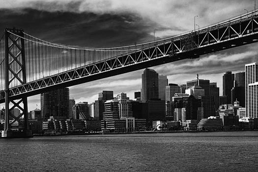 Bay Bridge and San Francisco Downtown by Laszlo Rekasi