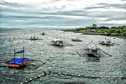 Bay of Mactan Island Philippines by Anita Antonia Nowack