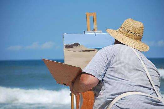 Beach Artist by Julie Strickland