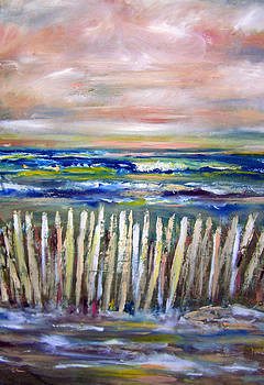Patricia Taylor - Beach Fence at Twilight