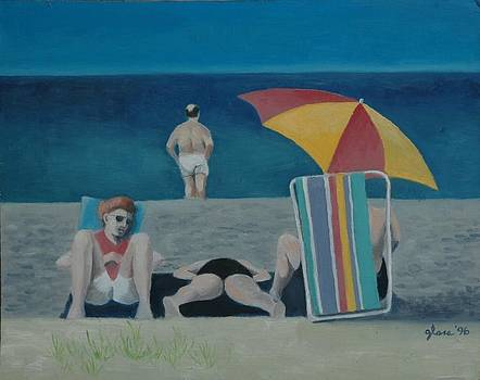 Beach Group at Cape Cod by Lester Glass