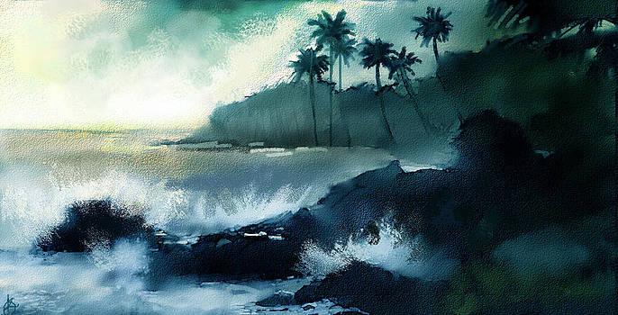 Beach  by Kiran Kumar