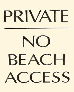 TONY GRIDER - BEACH SIGN