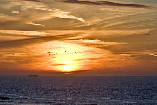 Beach sunset by Frits Selier