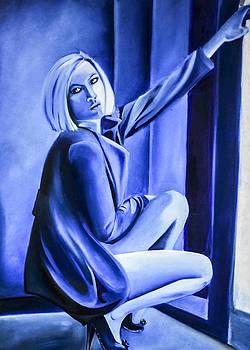 Beauty in Blue  by Chris  Leon