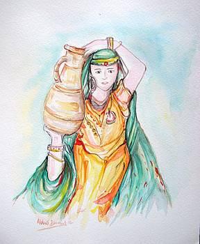 Bedouin Girl by Abbas Djamat